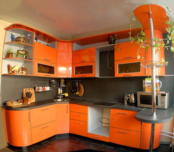 Гарнитур цвета мандарин