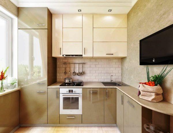 В кухне бежевого цвета вам будет по настоящему тепло и уютно