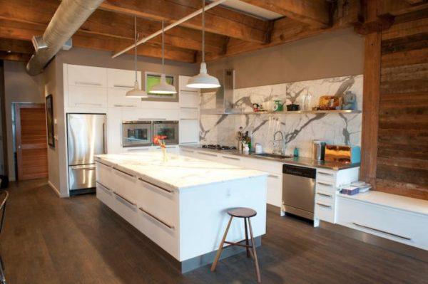 Белый лофт - кухня