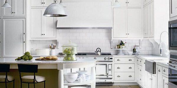 Дизайн белой кухни фото интерьера
