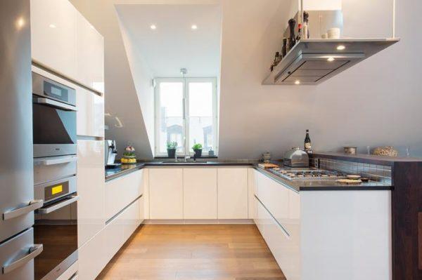 минимализм на белой кухне