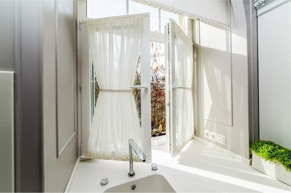 Витражные шторы в стиле прованс