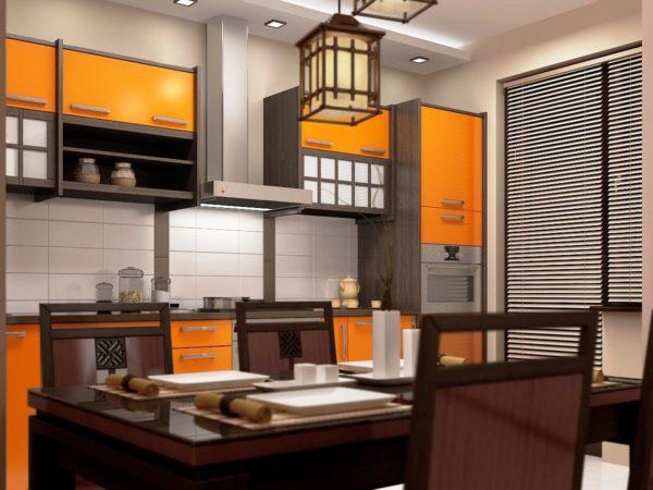 Особенно сильно это отслеживается на кухне в японском стиле