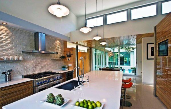 Кухня в стиле хай-тек: интерьер современной кухни