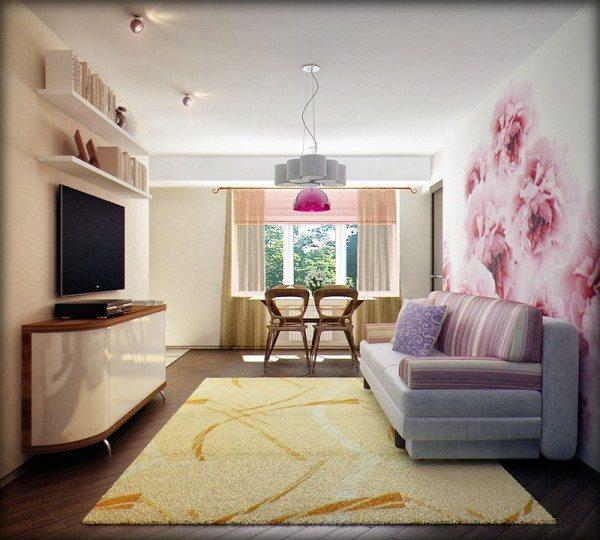 3 в 1: гостиная, столовая, комната отдыха