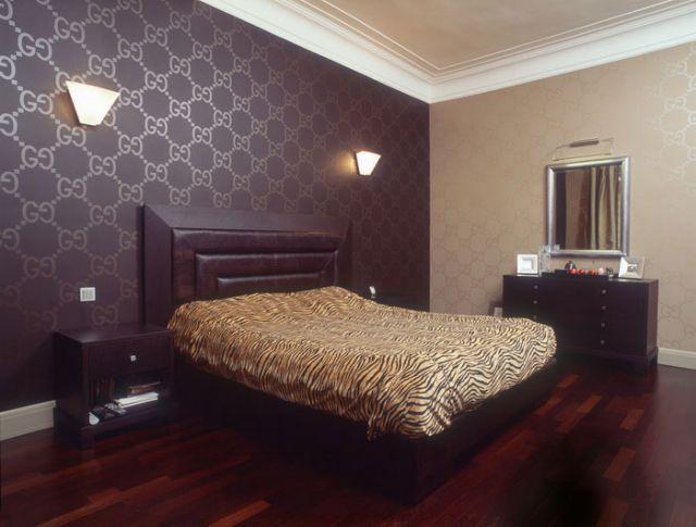 Бежевый и коричневый цвет в оформлении спальни – строгость и четкость контрастов