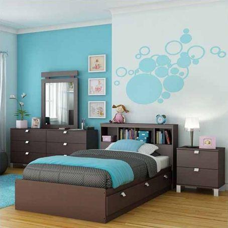 Бирюзовая спальня для девушки – неплохой аналог розовой