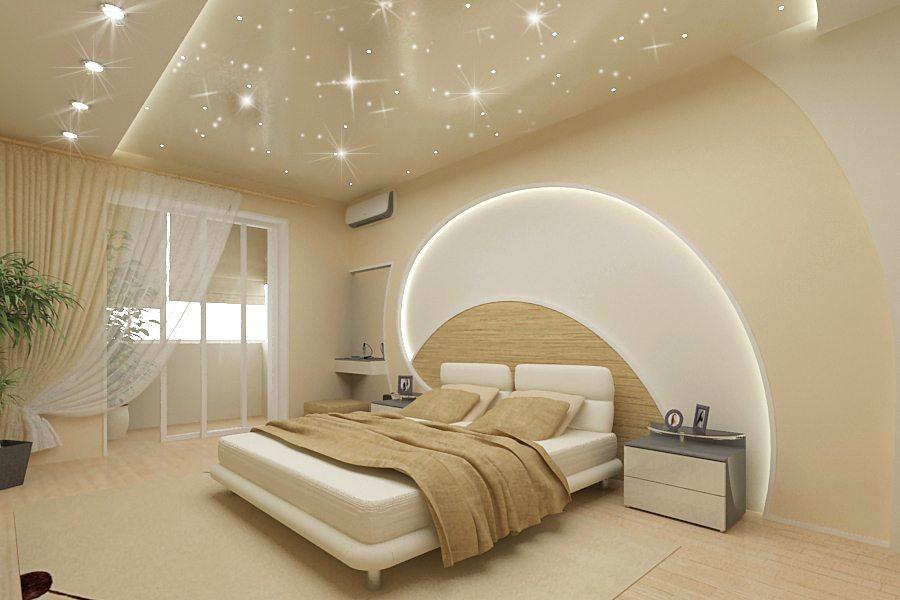 Блеск и однотонность – стиль современной спальни