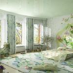 Цветочные мотивы в дизайне спальни