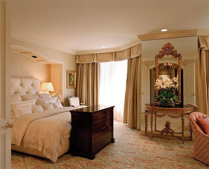 Данный стиль диктует использование натуральных материалов: пол, стены – спокойных и непритягательных оттенков.