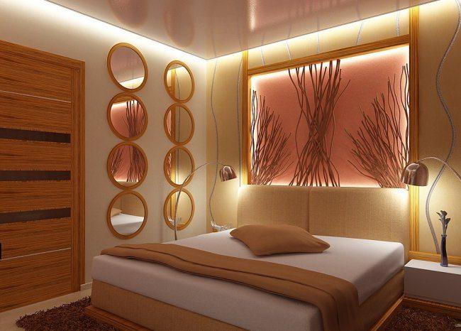 Декоративная подсветка изголовья кровати