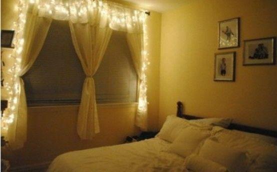 декоративное освещение романтической спальни