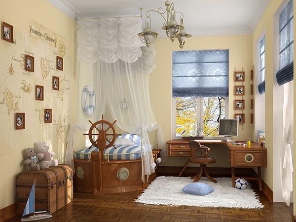 Детская комната в образе путешествие.