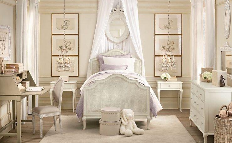 Детская спальня для девочки – нежнейшая классика, достойная юной принцессы!
