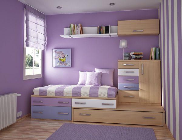 Детская спальня в сиреневых оттенках