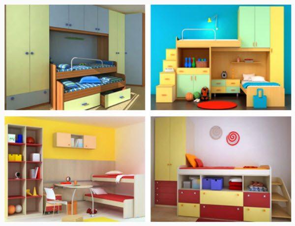 Детские комплекты отличаются яркой расцветкой и определенными особенностями конструкции