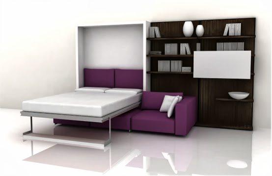 Диван-кровать в минималистическом стиле. Цена на подобные модели весьма приятная.