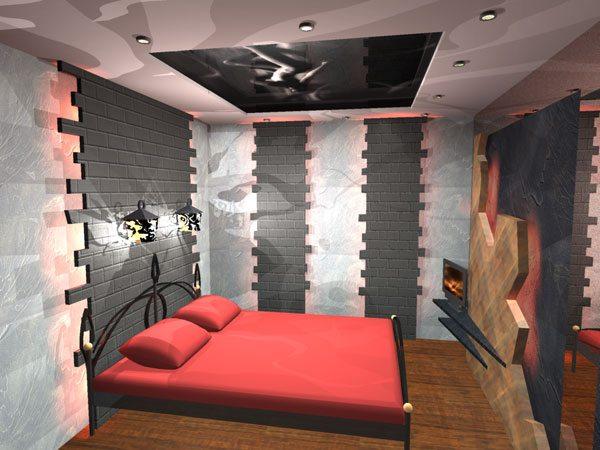 Дизайн проект спальни для карьериста-молодожена