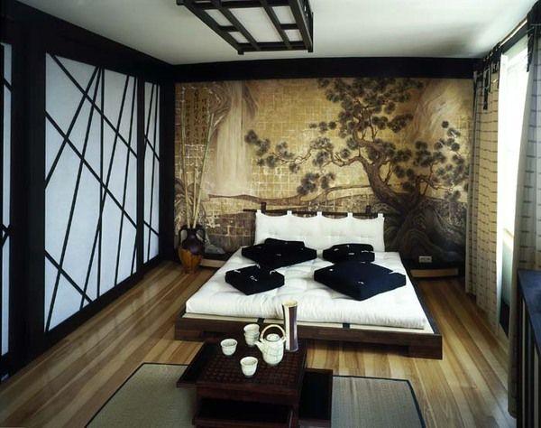Дизайн спальни 25 кв м в японском стиле