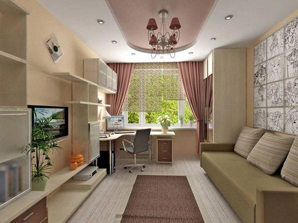 Дизайн детской комнаты 3х4