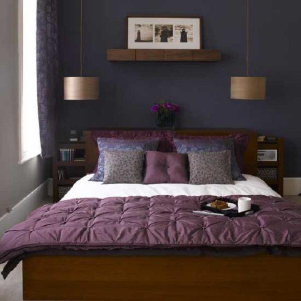 Дизайн спальни размером 3 на 3, как черт ладана, должен бояться таких темных тонов – комната будет казаться ещё «в 2 раза» меньше; светлые тона – вот что должно стать законом любого дизайнера малых площадей (фото «В»)