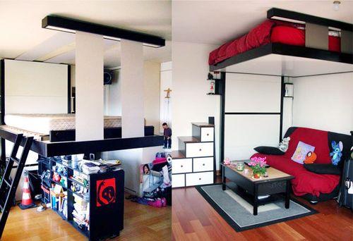 Две неординарные идеи интерьера для маленькой спальни