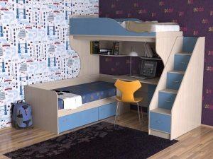Двухъярусная кровать поможет сохранить часть пространства