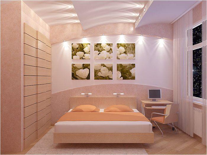 Эффектная верхняя и боковая подсветка потолка и стен