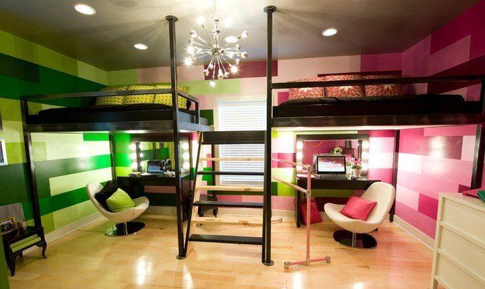 Эффектное решение для небольшой спальни