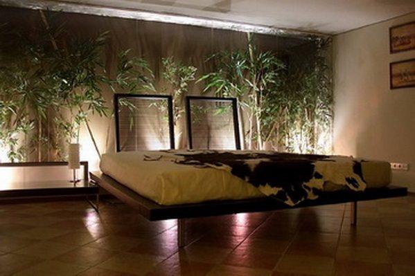 Эко дизайн спальной комнаты.