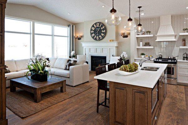 Еще один вариант дизайна кухни-студии
