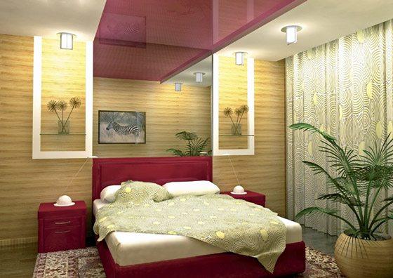 Если бы не такой тяжёлый потолок, можно было бы признать такую спальню идеальной («G»)