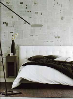 Это не подготовка к оклейке обоями, а они сами и есть, нужно ли вам такое творчество в спальне уже каждый решает сам (фото «N»)