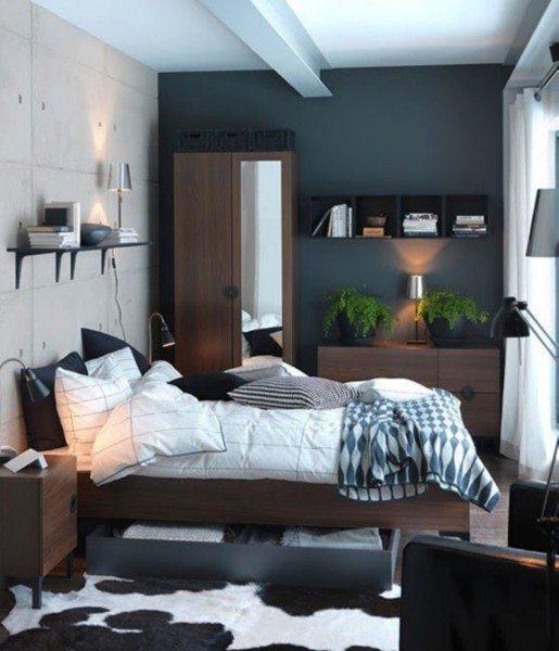 Евроремонт спальни в спокойных холодных тонах
