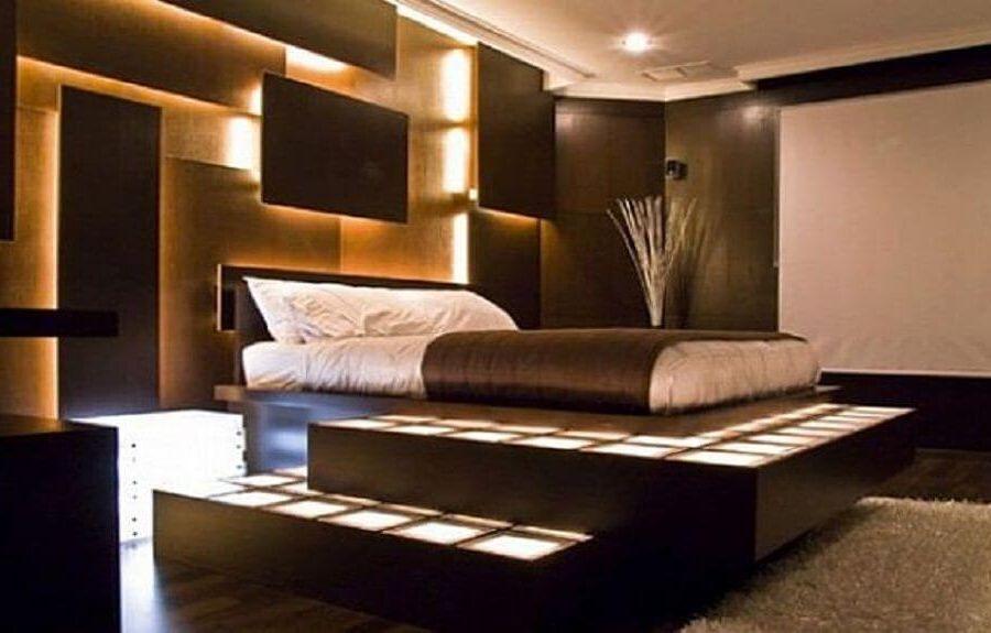 фантастическая идея освещения в спальне