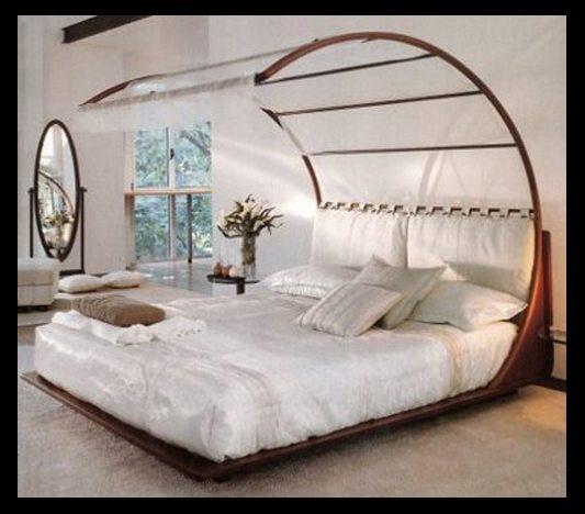 Форма кровати, характерная для стиля модерн и минимализм