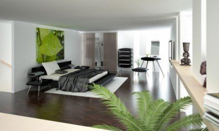 Фото большой комнаты, выполненной в образе модерн.