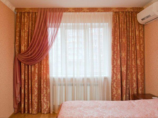 Фото гардин в спальне
