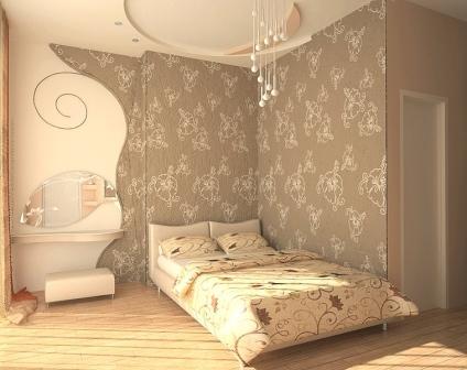 Фото: интерьер комнаты с применением двух цветов
