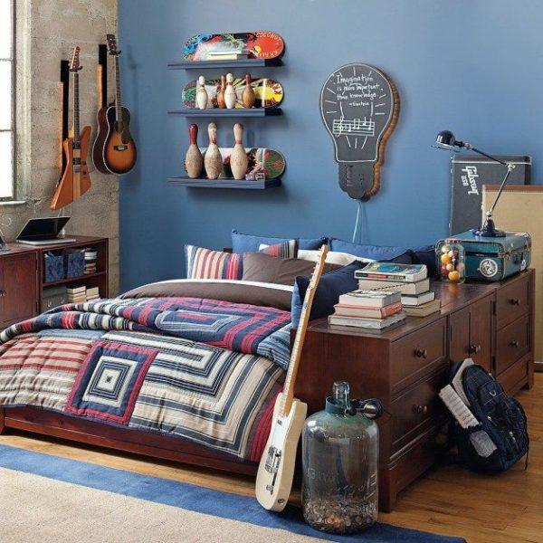 Фото комнаты мальчика в современном стиле.