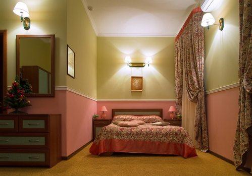 Фото комнаты, оклеенной по принципу разделения