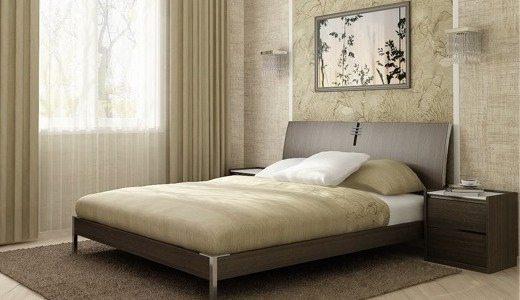 Фото кровати в спальне – с боковым светом от окна