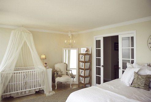 Фото кроватки с балдахином.