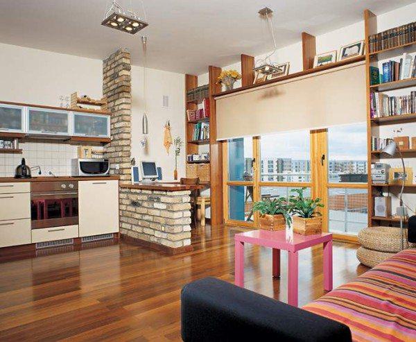 Фото квартиры-студии: вот здесь нет проблем ни в буквальном, ни в зрительном восприятии пространства – простор и уникальность царит в атмосфере.