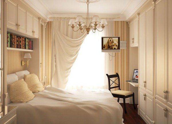 Фото маленькой спальни с мебелью