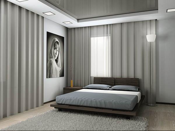 Фото минималистического интерьера спальни