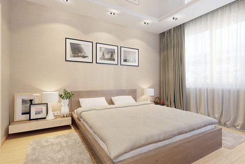 Фото: наглядная инструкция дизайна спальня цвета «крем – брюле».