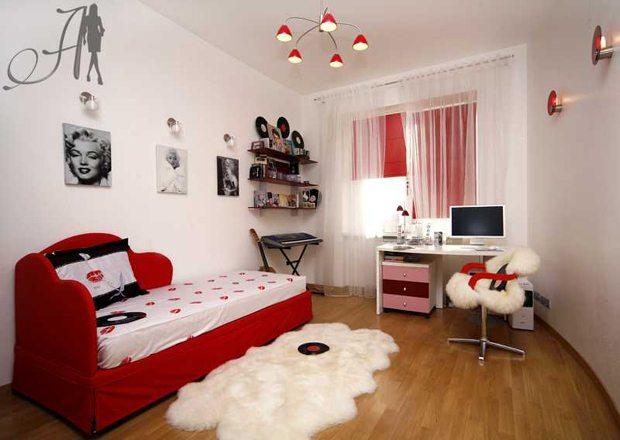 Фото небольшой, но стильной комнаты