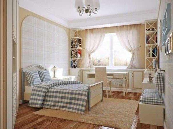 Фото небольшой, но уютной спальни