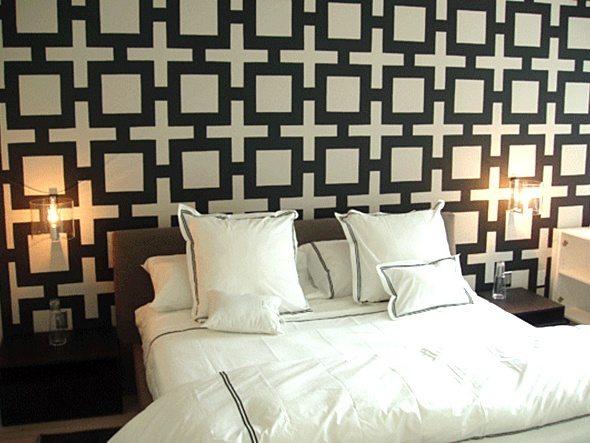 Фото обоев для спальни с необычным рисунком